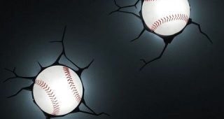 Baseball 3D Wall Art