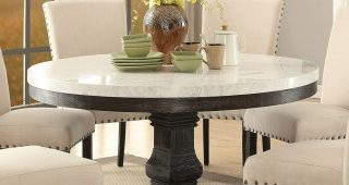 Dining Tables With White Marble Top