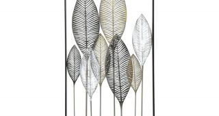 Abstract Leaf Metal Wall Art