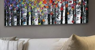 Large Framed Abstract Wall Art