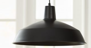 Adriana Black 1-Light Single Dome Pendants