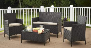 Black Patio Conversation Sets