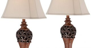 Set Of 2 Living Room Table Lamps