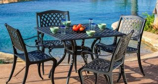 Black Aluminum Patio Conversation Sets