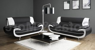 Black And White Sofas