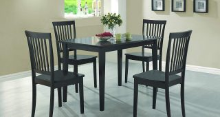 Cappuccino Finish Wood Classic Casual Dining Tables