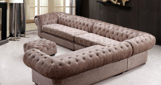 Tufted Sofas With Chaise
