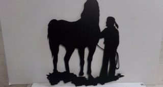 Western Metal Wall Art Silhouettes