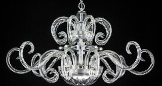Crystal Chrome Chandeliers