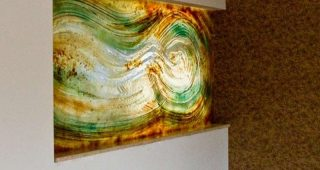 Abstract Fused Glass Wall Art