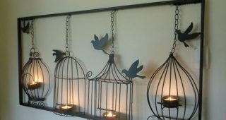 Metal Birdcage Wall Art