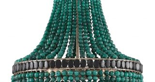 Turquoise Empire Chandeliers