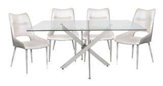 Chrome Dining Tables With Tempered Glass