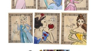 Disney Princess Framed Wall Art