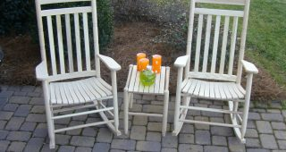 Patio Rocking Chairs And Table