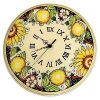 Italian Ceramic Wall Clock Decors (Photo 6 of 15)