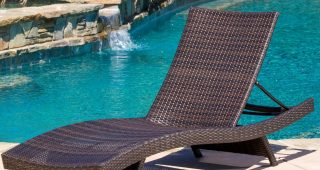 Lakeport Outdoor Adjustable Chaise Lounge Chairs