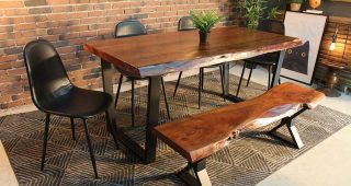 Dining Tables With Black U-Legs