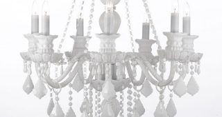 White And Crystal Chandeliers