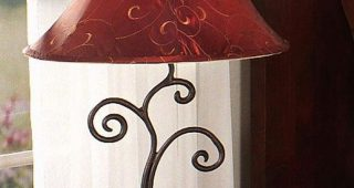 Red Living Room Table Lamps