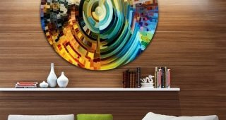 Glass Abstract Wall Art