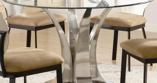 Round Dining Tables With Glass Top