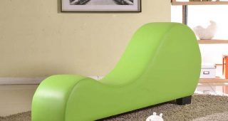 Green Chaise Lounges