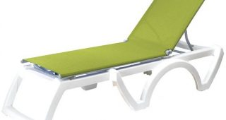 Green Resin Chaise Lounge Chairs