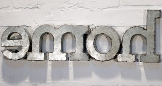 Metal Word Wall Art