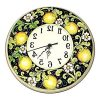 Italian Ceramic Wall Clock Decors (Photo 8 of 15)