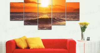 Large Framed Canvas Wall Art