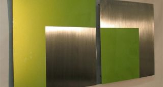 Lime Green Metal Wall Art