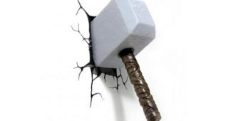Thor Hammer 3D Wall Art