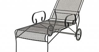 Metal Chaise Lounge