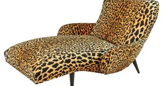 Leopard Print Chaise Lounges