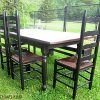 Distressed Walnut And Black Finish Wood Modern Country Dining Tables (Photo 1 of 25)