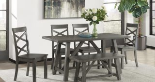 Osterman 6 Piece Extendable Dining Sets (Set Of 6)