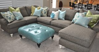 Charcoal Gray Sectional Sofas With Chaise Lounge