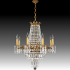 Crystal And Brass Chandelier (Photo 9 of 15)
