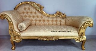 Gold Chaise Lounges