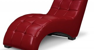Red Leather Chaises
