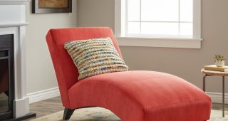 Orange Chaise Lounges
