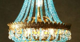 Turquoise Chandelier Crystals