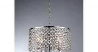4 Light Chrome Crystal Chandeliers