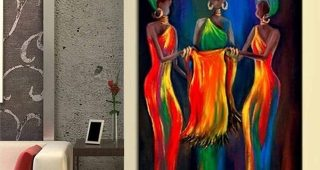 Abstract African Wall Art