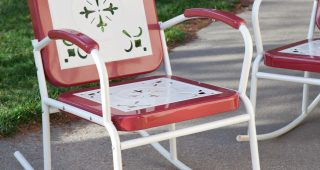 Vintage Metal Rocking Patio Chairs