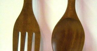 Giant Fork And Spoon Wall Art