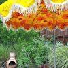 Vinyl Patio Umbrellas With Fringe (Photo 15 of 15)