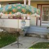 Vinyl Patio Umbrellas With Fringe (Photo 13 of 15)