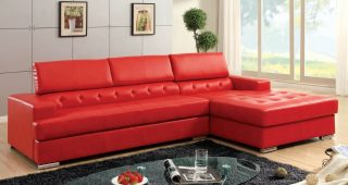 Red Leather Sectional Couches